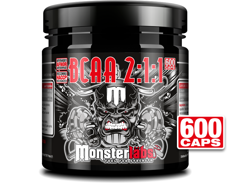 BCAA 2:1:1 MonsterLabs 600 caps